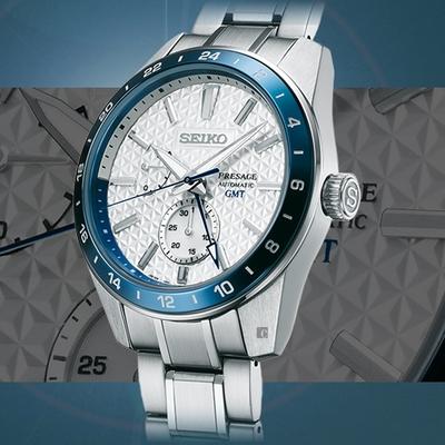 SEIKO精工 Presage 140週年 新銳系列 GMT 限量機械錶(SPB223J1/6R64-00D0S)-42.2mm