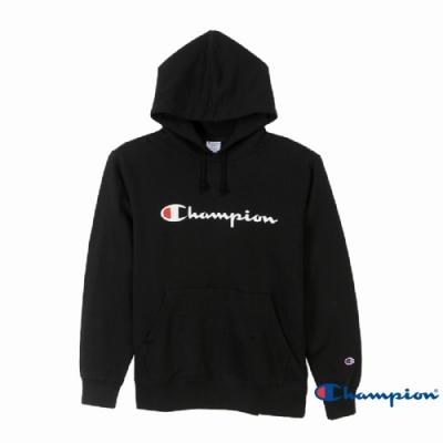 Champion Basic Logo 經典款連帽Tee 黑色