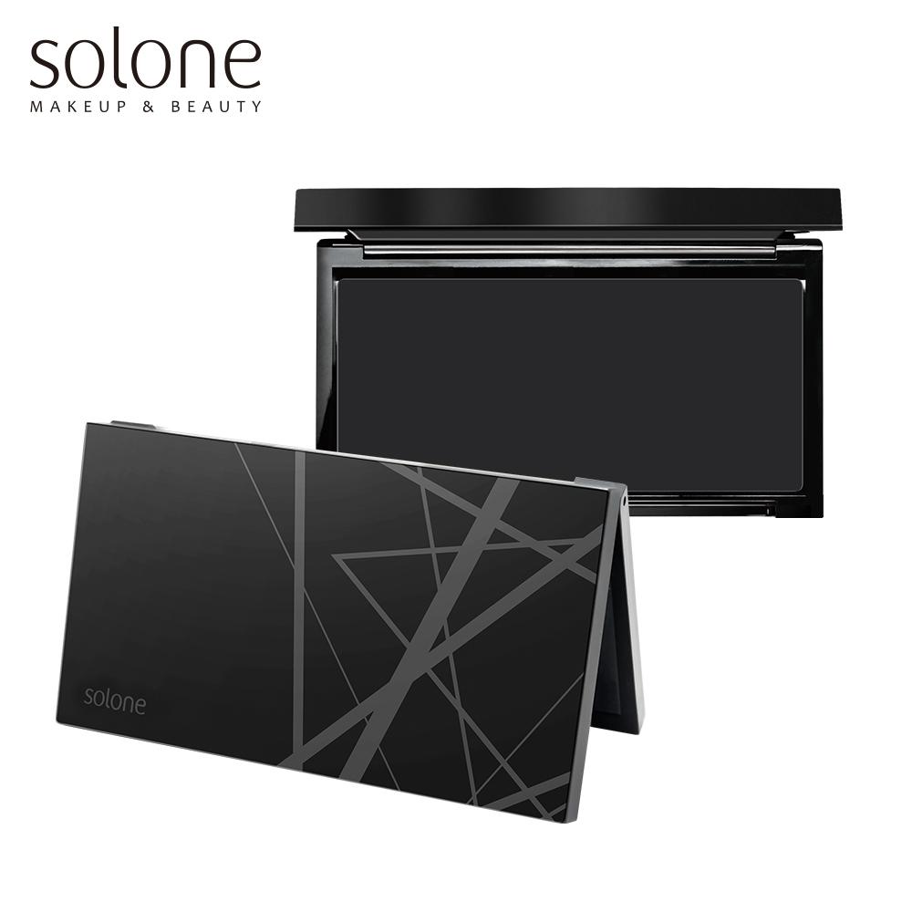 Solone 迷霧墨黑彩妝收納盒 (8格)