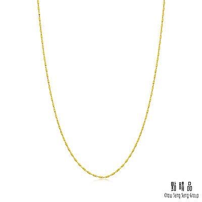 點睛品 機織素鍊黃金項鍊(40cm)_當日金價