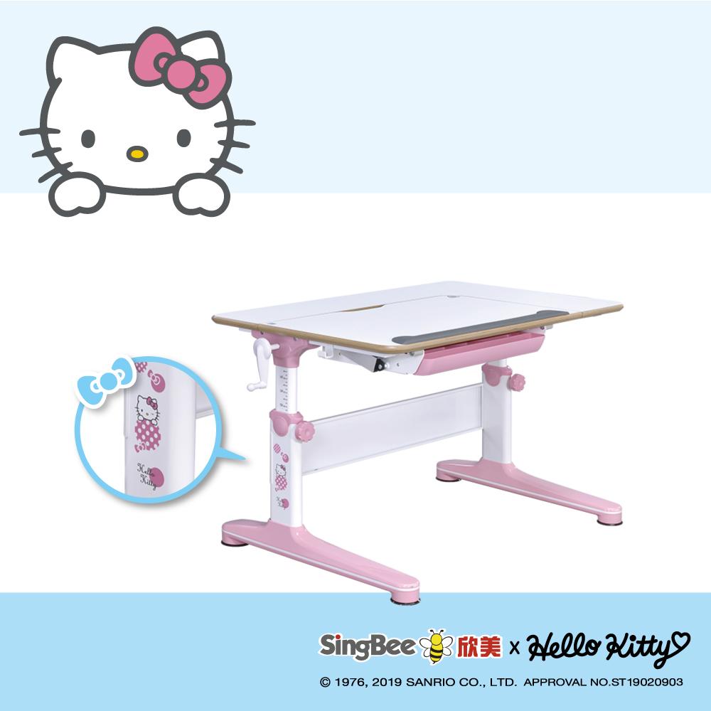 SingBee欣美 Hello Kitty-實木樺木 L桌