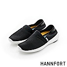 HANNFORT ICE運動網布時尚懶人鞋-女-個性黑8H