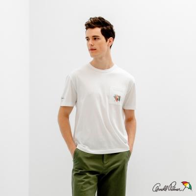 Arnold Palmer -男裝-印花小LOGO貼袋T恤-白色