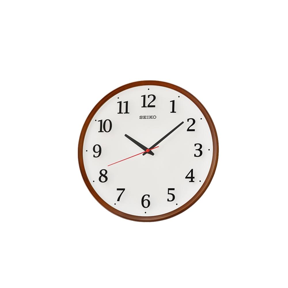 SEIKO 日本精工 滑動式秒針 靜音掛鐘(QXA731B)咖啡-白/31.2cm