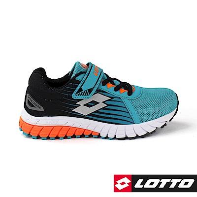 LOTTO 義大利 童 SPEEDRIDE 雙密度跑鞋 (湖水綠)