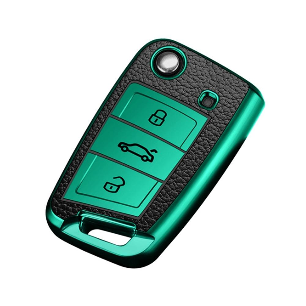 QinD Volkswagen 福斯車鑰匙保護套(2019年款)