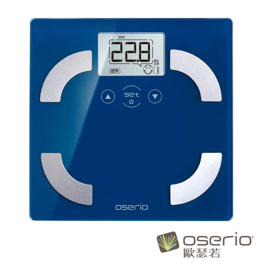 oserio歐瑟若 時尚多彩中文體脂計 (藍色FSC-351B)