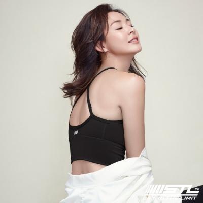 STL Bra Crop Top base 韓國 高度支撐 機能運動內衣 / 短版背心 (含專利胸墊) 黑