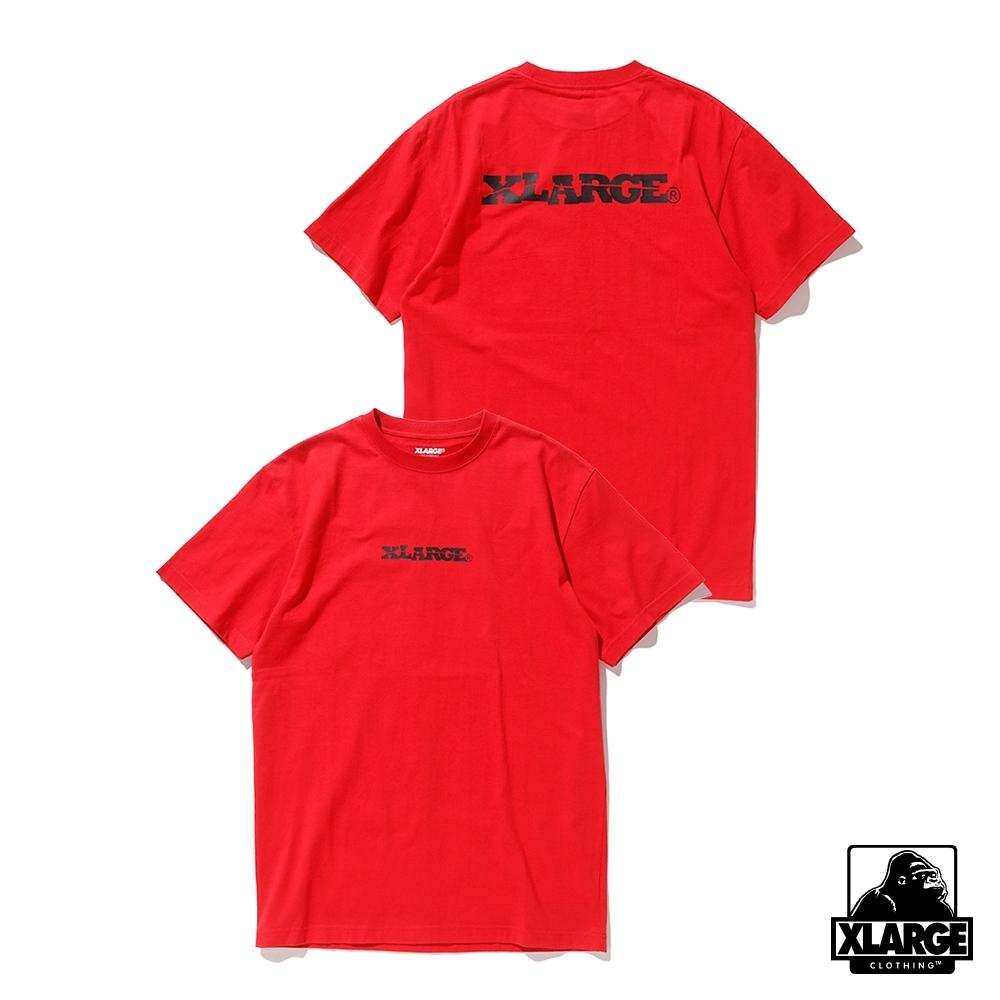 XLARGE S/S TEE DG LOGO短袖T恤-紅