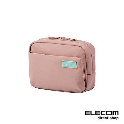 ELECOM 帆布多功能側背包OF03-粉