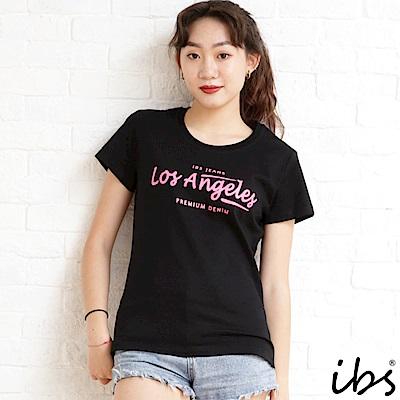 ibs los Angeles字母T-黑