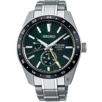 SEIKO精工 Presage 新銳系列 GMT機械錶-42.2mm (SPB219J1/6R64-00C0G)