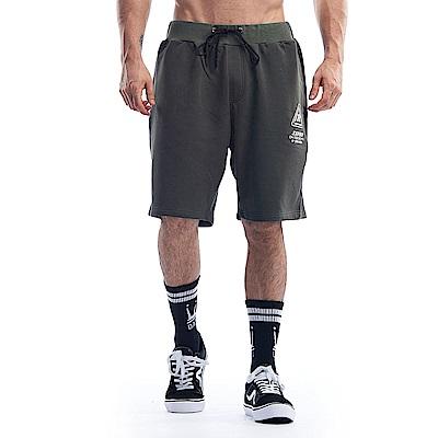 【ZEPRO】男子LOGO抽繩休閒短棉褲-深軍綠