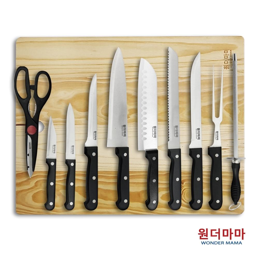 韓國WONDERMAMA多功能不鏽鋼刀11件組(快)
