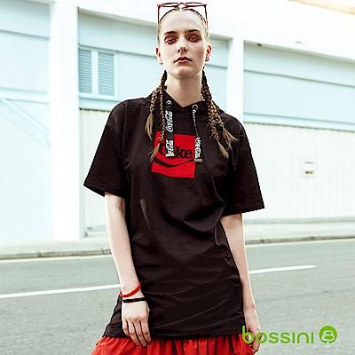bossini女裝-CocaCola連帽連身裙黑