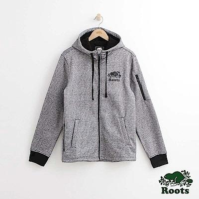 Roots 男裝-羅根邦迪連帽外套-灰色