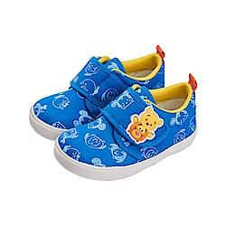 迪士尼童鞋 TsumTsum 米奇 小熊維尼 厚布料學步鞋-藍