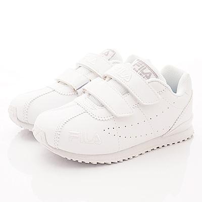 FILA頂級童鞋 私校純白運動款 FO03T-100白(中大童段)