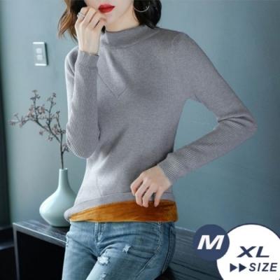 【LANNI 藍尼】針織加絨套頭毛衣-4色(M-XL)●