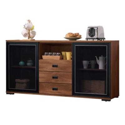 文創集 納波德 現代5尺多功能餐櫃/收納櫃-151x40x77cm免組