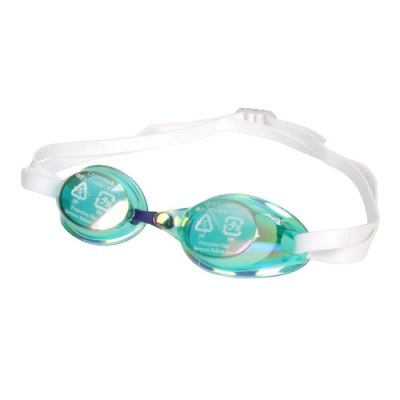 MIZUNO SWIM 泳鏡-防霧 抗UV 游泳 日製 蛙鏡 訓練 美津濃 85YA-75100-30 綠白藍
