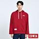EDWIN 塗鴉系列 顏料徽章 厚連帽T恤-男-朱紅色 product thumbnail 1