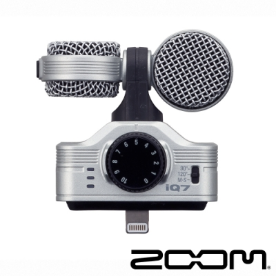 ZOOM iQ7 立體聲收音麥克風│適 iOS Lightning