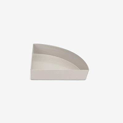Dailylike 幾何創意桌面收納托盤-1/4圓-02淡雅灰