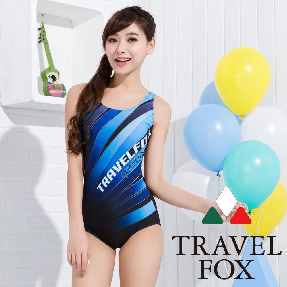 夏之戀TRAVEL FOX 大女連身三角泳衣