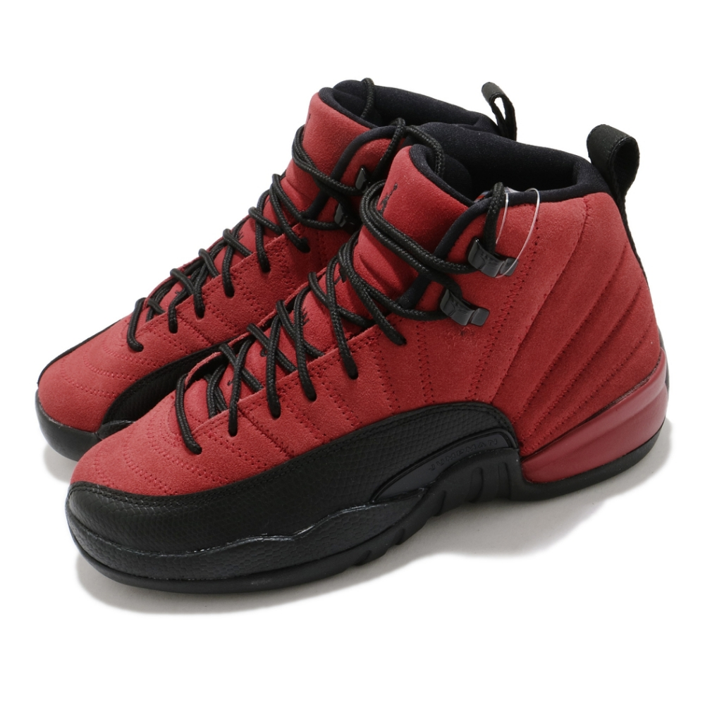 Nike 籃球鞋 Air Jordan 12 Retro 女鞋 經典款 喬丹12代 麂皮 大童 穿搭 黑 紅 153265602