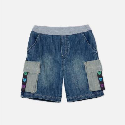 WHY AND 1/2 口袋牛仔短褲 5Y~10Y