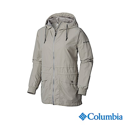 Columbia 哥倫比亞 女款-防潑水外套-灰色 UWR02000GY