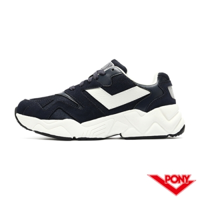 【PONY】MODERN 2系列 復古單色 老爹鞋 電光鞋 男鞋-深藍