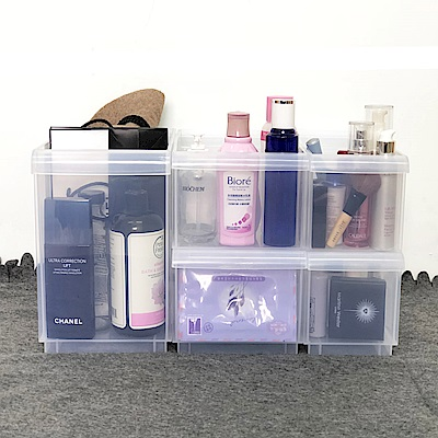 創意達人諾可隔板多用途整理盒小資組(附輪)5入組