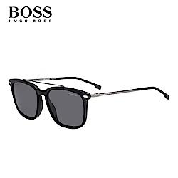 HUGO BOSS- BOSS 0930/S 型男方框經典太陽眼鏡 黑色