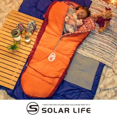 Coleman 兒童可調式橘色睡袋/C4/CM-27271.兒童露營睡袋 可機洗木乃伊睡袋 中空纖維睡袋 幼稚園睡袋 兩用四季毛毯