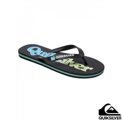 【QUIKSILVER】 MOLOKAI WORDMARK 拖鞋 藍綠色