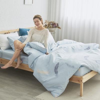 BUHO 天然嚴選純棉雙人加大四件式兩用被床包組(風漉化生)