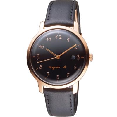 agnes b.30週年紀念限定手錶(BG8010X1)38mm/ VJ32-KEF0C
