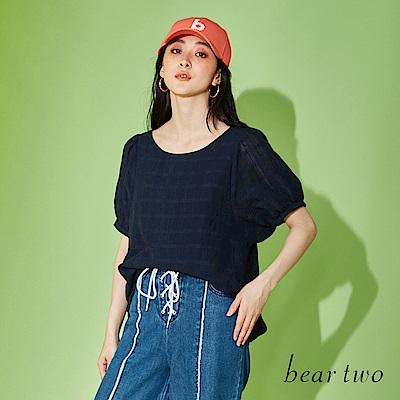 beartwo 背後蕾絲鏤空設計古典上衣(二色)