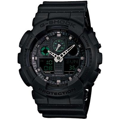G-SHOCK 玩酷街頭跳色設計腕錶-霧黑(GA-100MB-1A)/51mm