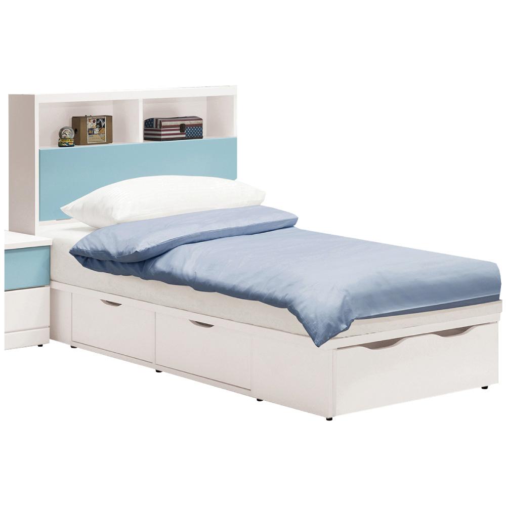 文創集 洛西3.5尺單人五抽床台組合(二色+不含床墊)-106x211.5x102cm