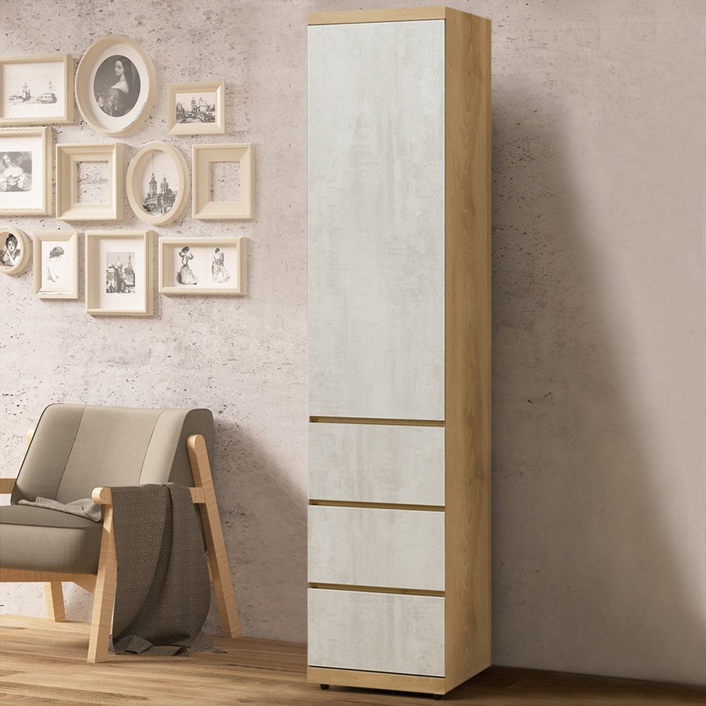 Homelike 蜜雪兒1.5尺三抽衣櫃-45x57x202cm-免組裝