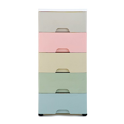 IDEA 夢幻馬卡龍37cm寬五層抽屜收納櫃
