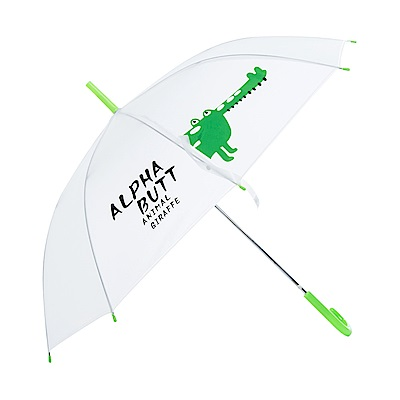 樂嫚妮 自動開傘/直立雨傘-動物字母雙拼
