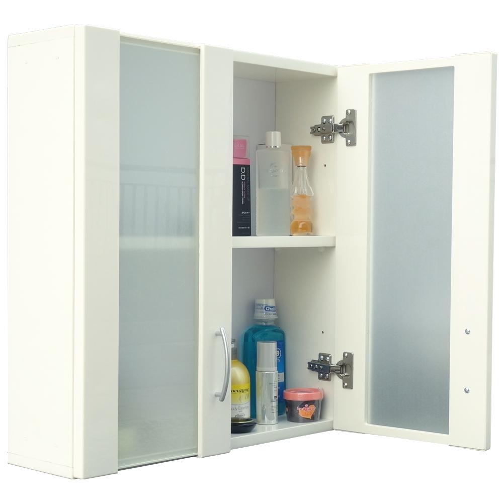 經典霧面雙門加深防水塑鋼浴櫃/置物櫃-白色1入