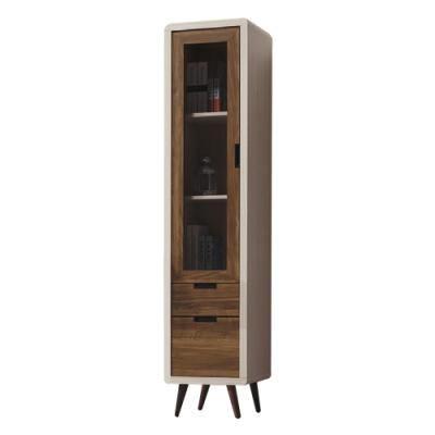 綠活居 凱琳 現代1.3尺雙色二抽書櫃-39.5x45.5x182cm免組