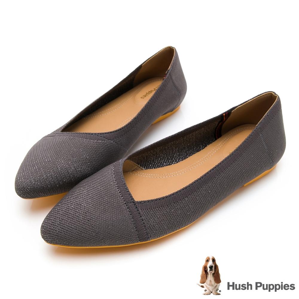 Hush Puppies Sadie 尖頭女娃娃鞋-灰色