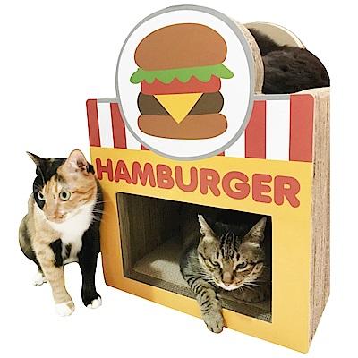 寵喵樂 美食街 漢堡屋造型貓抓板 SY-471