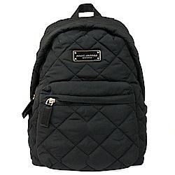 MARC JACOBS  鐵牌LOGO菱格車縫線 超輕量材質後背包 (黑色)